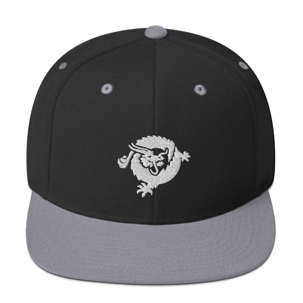 Bitcoin SV Dragon Snapback Hat White Black/ Silver  - zeroconfs
