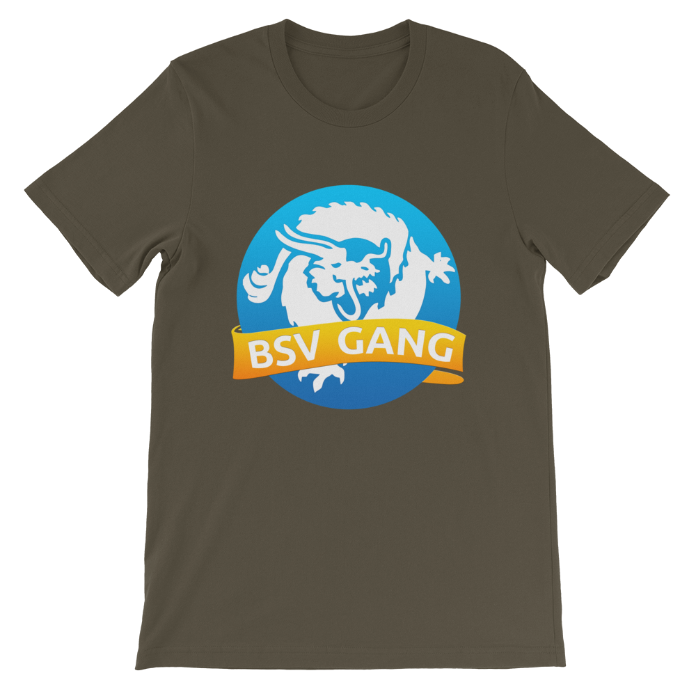 Bitcoin SV Gang Short-Sleeve T-Shirt Army S - zeroconfs