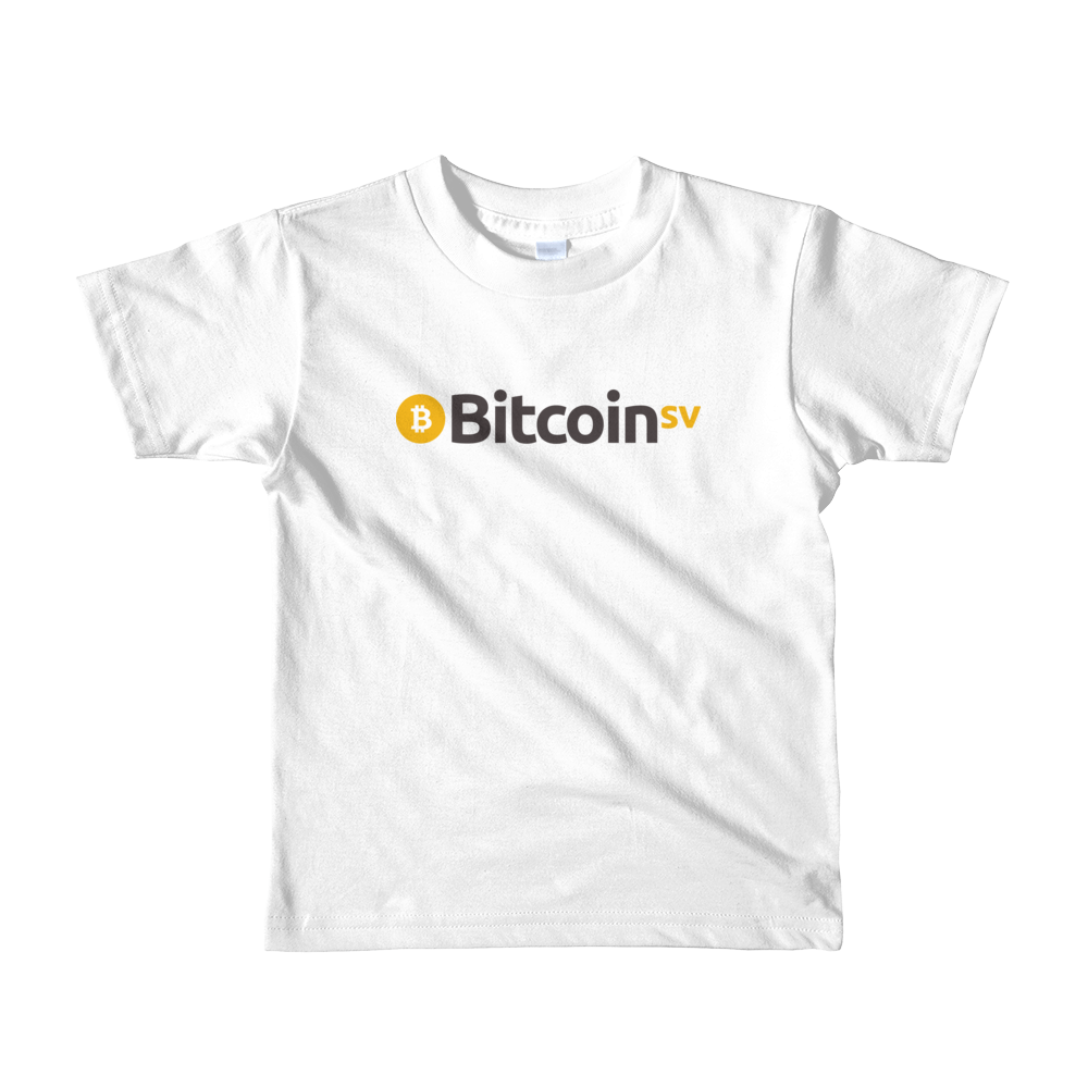 Bitcoin SV Short Sleeve Kids T-Shirt White 2yrs - zeroconfs