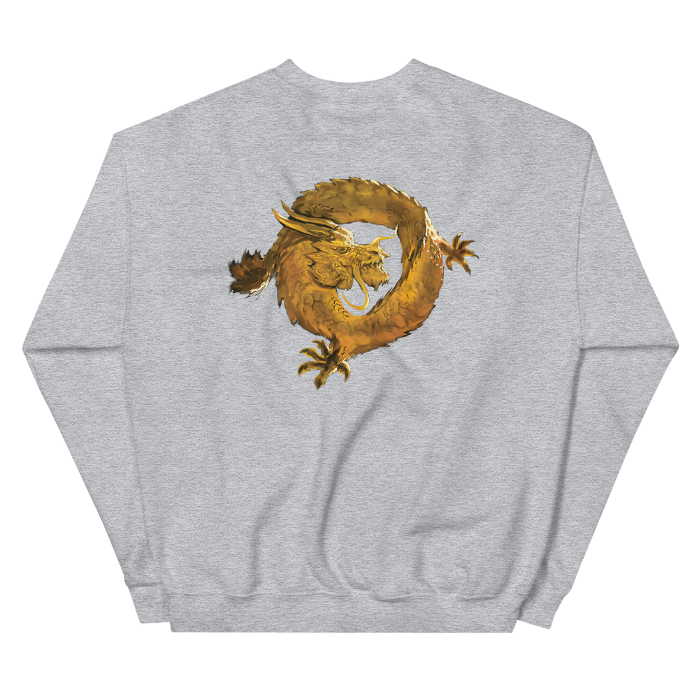 Bitcoin SV Woken Dragon Sweatshirt Back   - zeroconfs