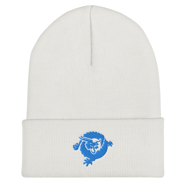 Bitcoin SV Dragon Cuffed Beanie Blue White  - zeroconfs