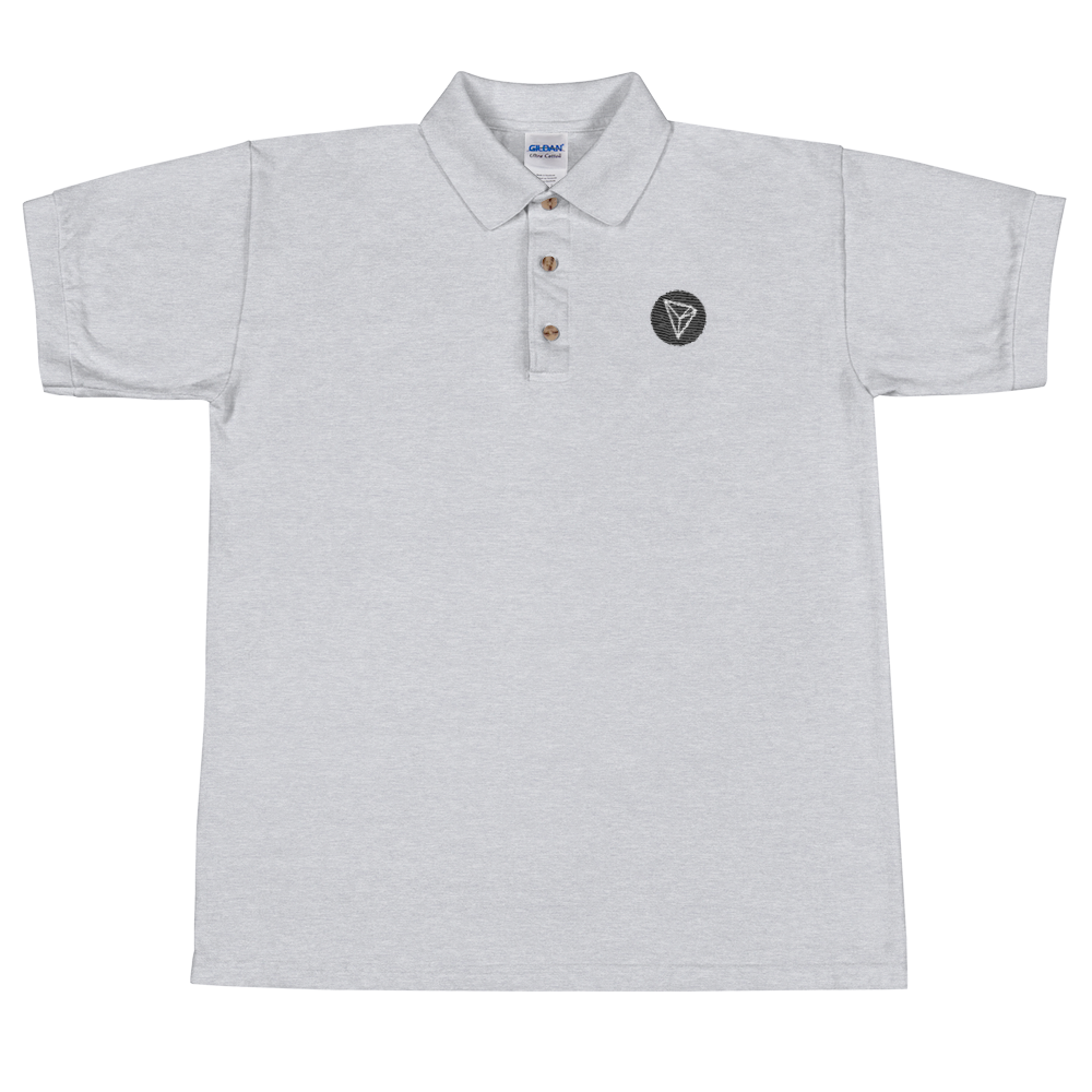 Tron Embroidered Polo Shirt Sport Grey S - zeroconfs