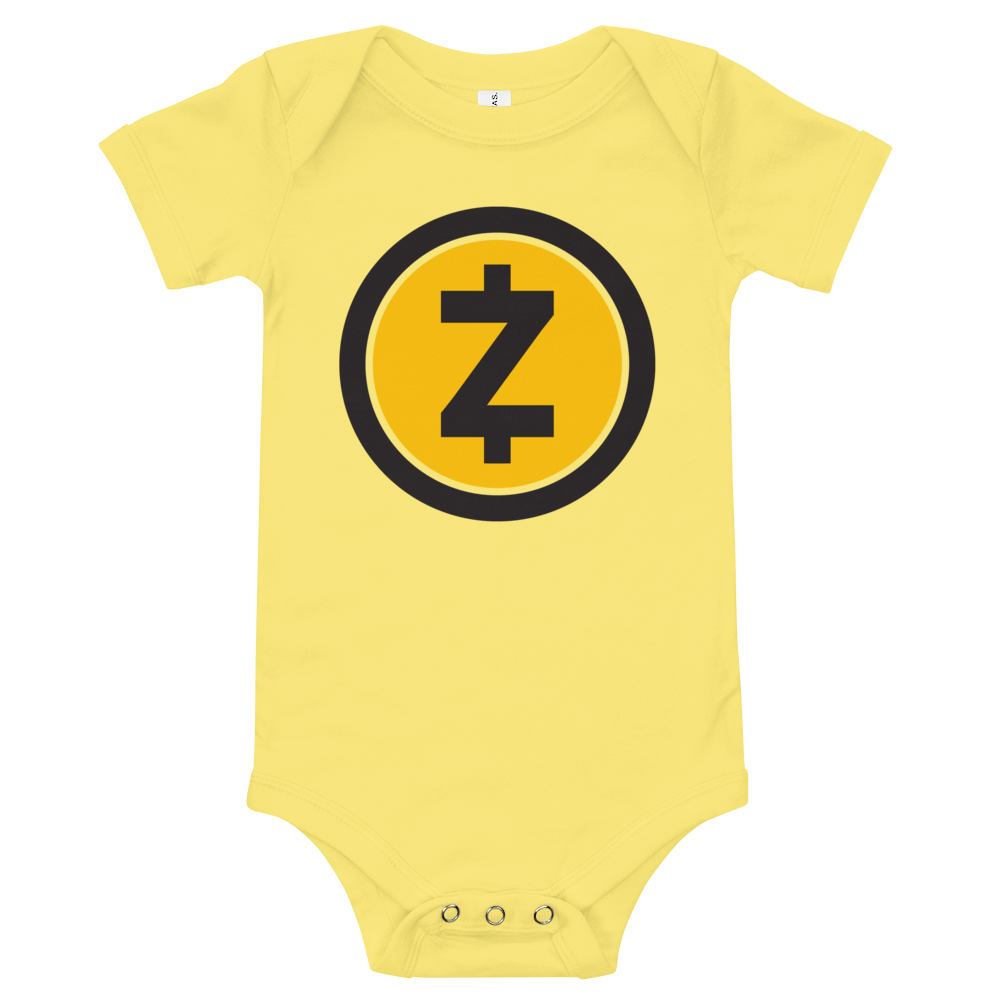 Zcash Baby Bodysuit Yellow 3-6m - zeroconfs