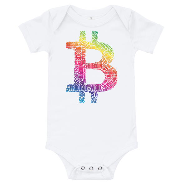 Bitcoin SV Proof Of Work Baby Bodysuit White 3-6m - zeroconfs
