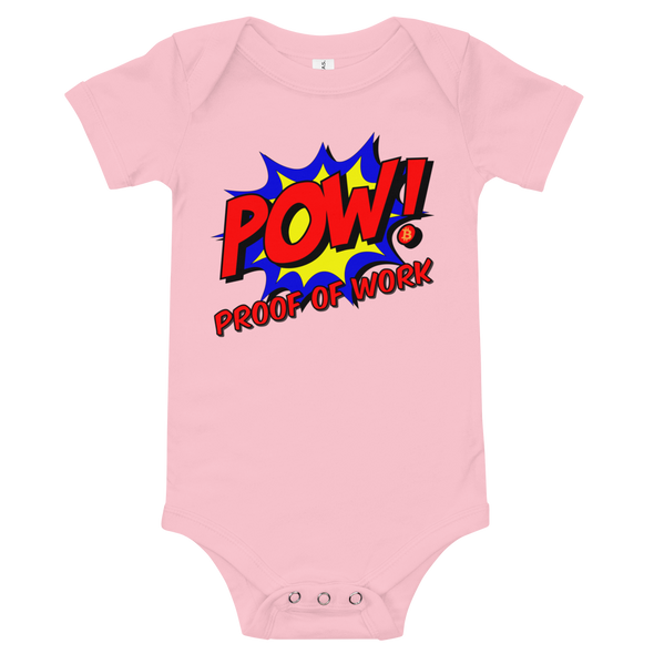 Proof Of Work Bitcoin Baby Bodysuit Pink 3-6m - zeroconfs