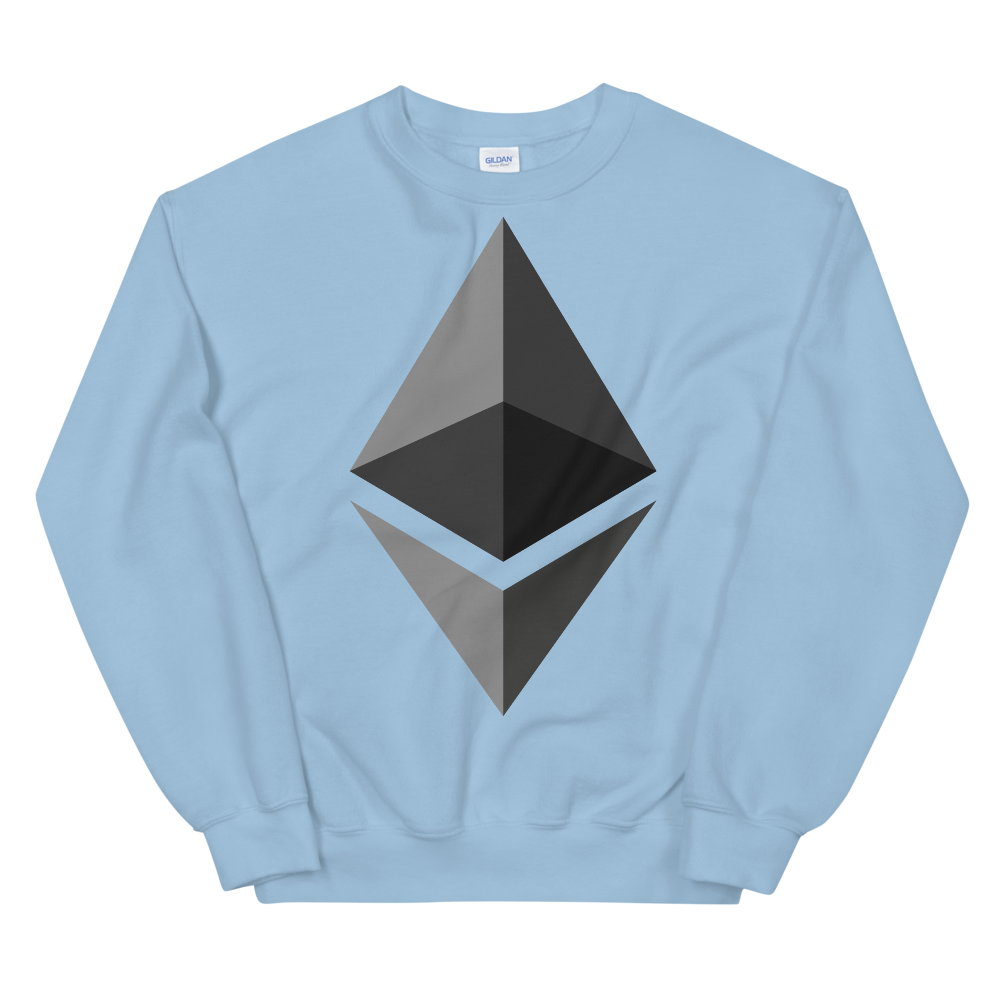 Ethereum Women's Sweatshirt Light Blue S - zeroconfs