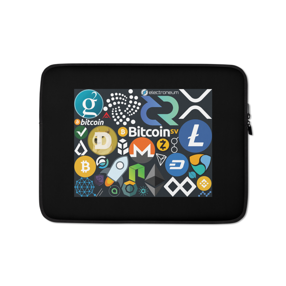 Crypto Calling Laptop Sleeve 13 in  - zeroconfs