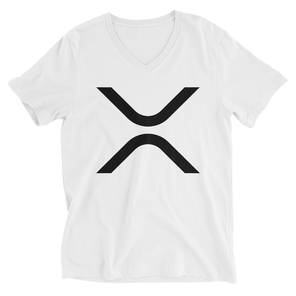 Ripple V-Neck T-Shirt White XS - zeroconfs