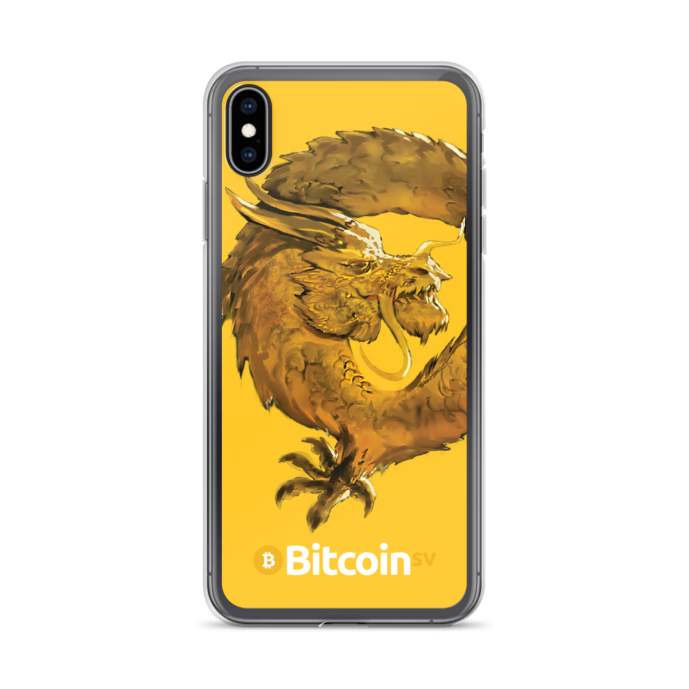 Bitcoin SV Woken Dragon iPhone Case Yellow iPhone XS Max  - zeroconfs