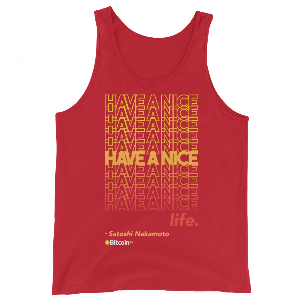 Have A Nice Life Bitcoin SV Tank Top Red XS - zeroconfs