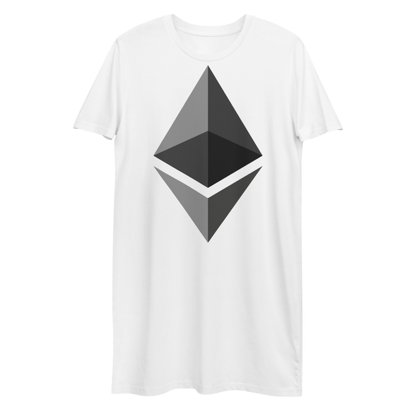 Ethereum Premium T-Shirt Dress White XS - zeroconfs