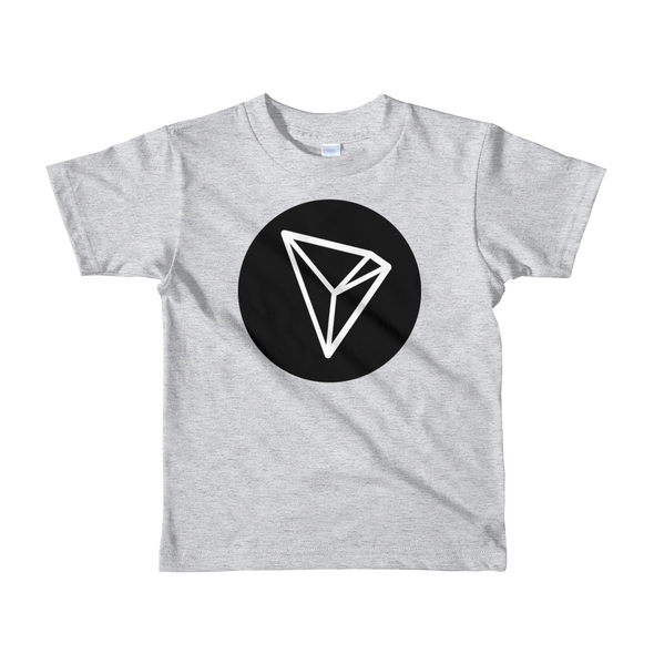 Tron Short Sleeve Kids T-Shirt Heather Grey 2yrs - zeroconfs