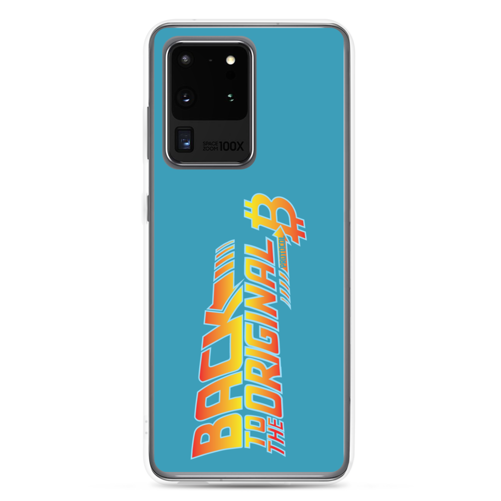 Back To The Original Bitcoin Protocol Samsung Case Blue Samsung Galaxy S20 Ultra  - zeroconfs