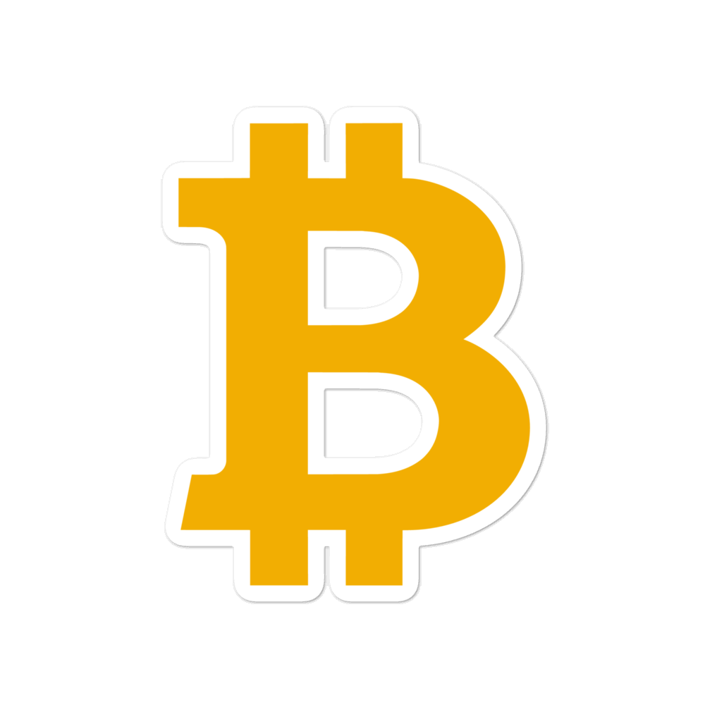 Bitcoin B Bubble-Free Vinyl Stickers 4x4  - zeroconfs