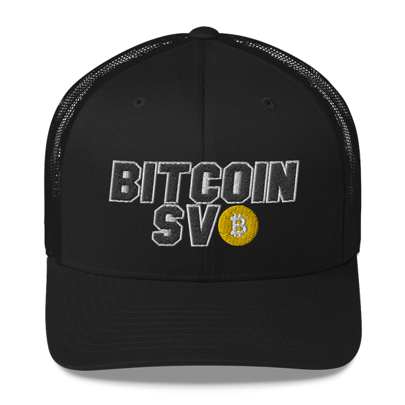 Bitcoin SV Sports Trucker Cap Black  - zeroconfs