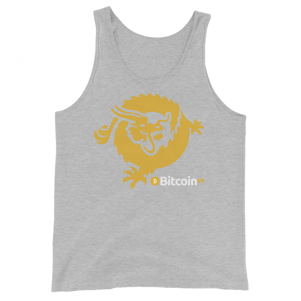 Bitcoin SV Dragon Tank Top Athletic Heather XS - zeroconfs