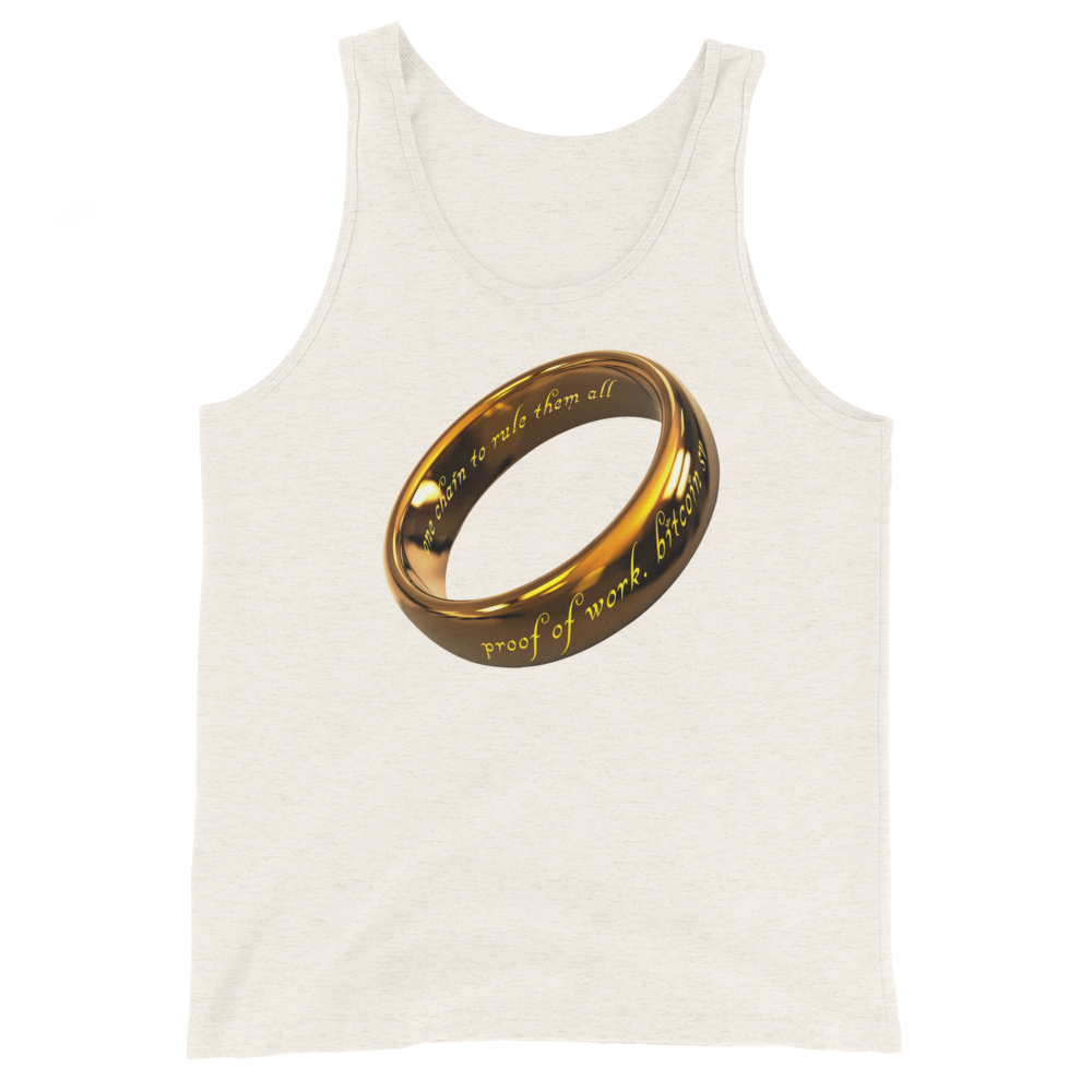 One Chain To Rule Them All Bitcoin SV Tank Top Oatmeal Triblend XS - zeroconfs