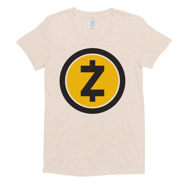 Zcash Women's Crew Neck T-Shirt Tri-Oatmeal S - zeroconfs