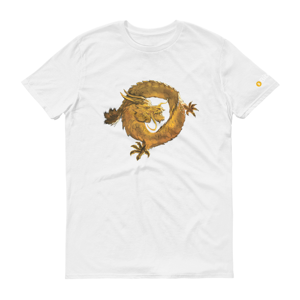 Bitcoin SV Woken Dragon Short-Sleeve T-Shirt White S - zeroconfs