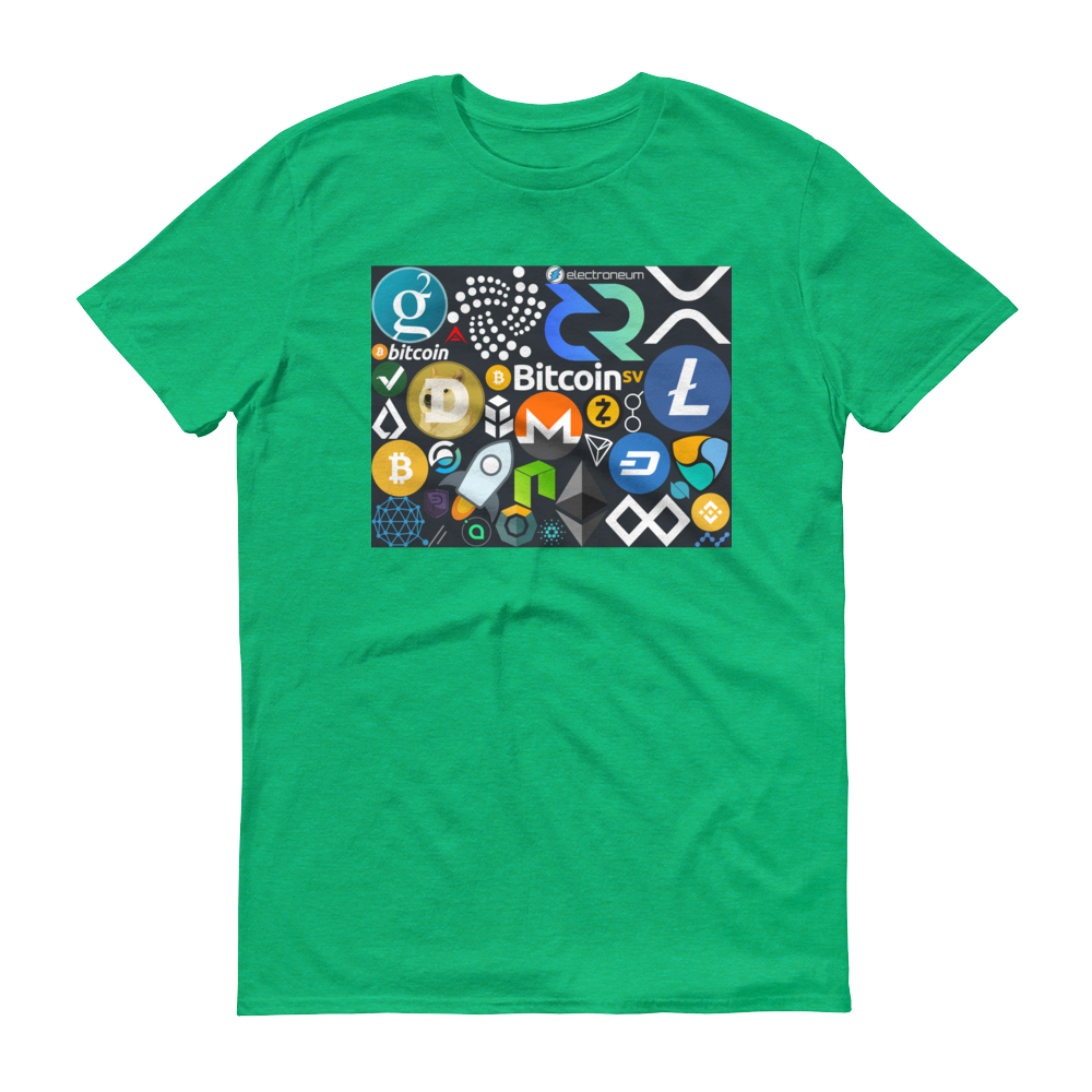 Crypto Calling Short-Sleeve T-Shirt Heather Green S - zeroconfs