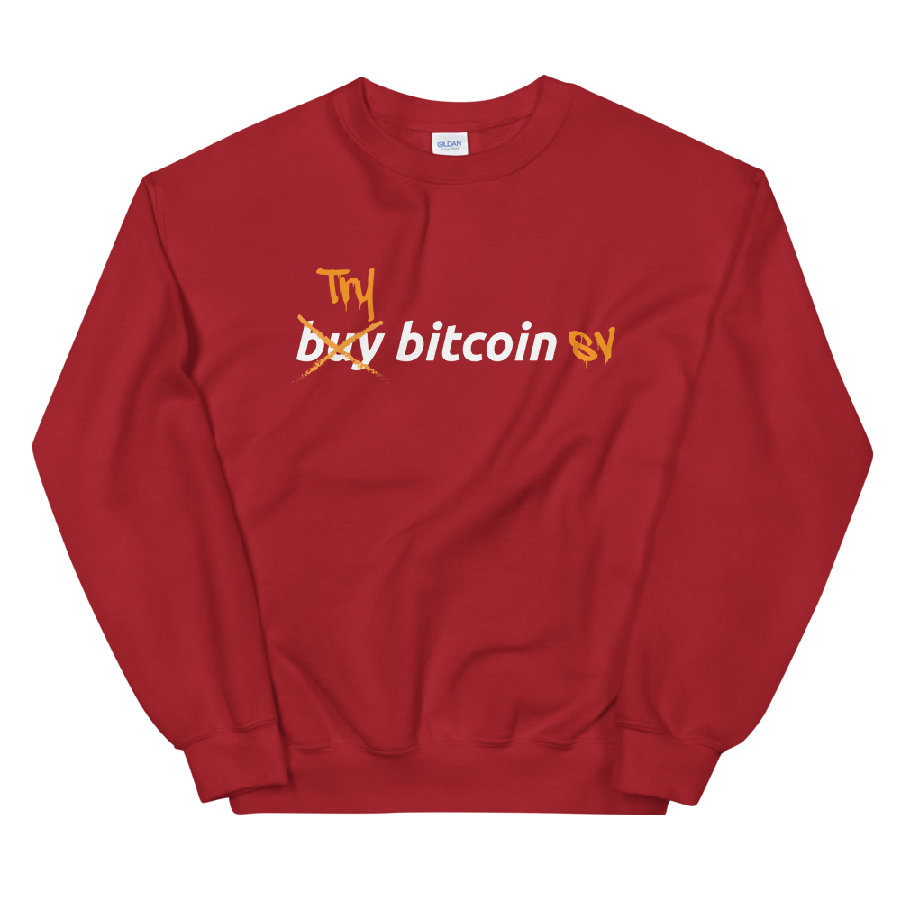 Try Bitcoin SV Women's Sweatshirt Red S - zeroconfs