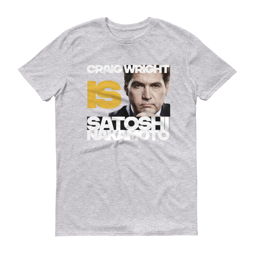 Craig Is Satoshi Short-Sleeve T-Shirt Heather Grey S - zeroconfs