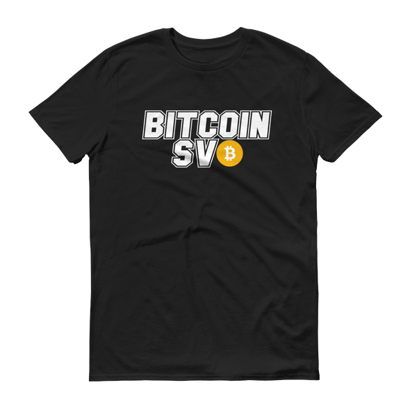 Bitcoin SV Sports Short-Sleeve T-Shirt Black S - zeroconfs