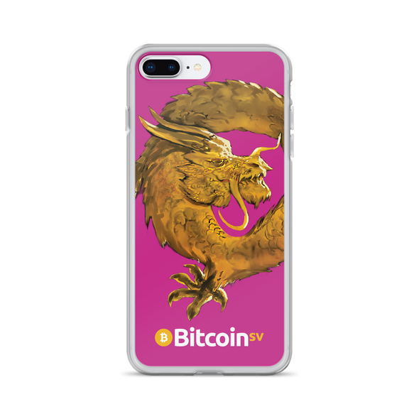 Bitcoin SV Woken Dragon iPhone Case Pink iPhone 7 Plus/8 Plus  - zeroconfs