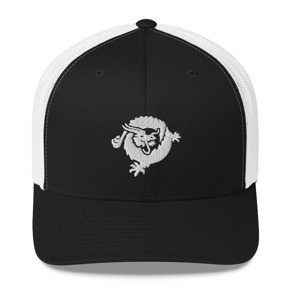 Bitcoin SV Dragon Trucker Cap White Black/ White  - zeroconfs