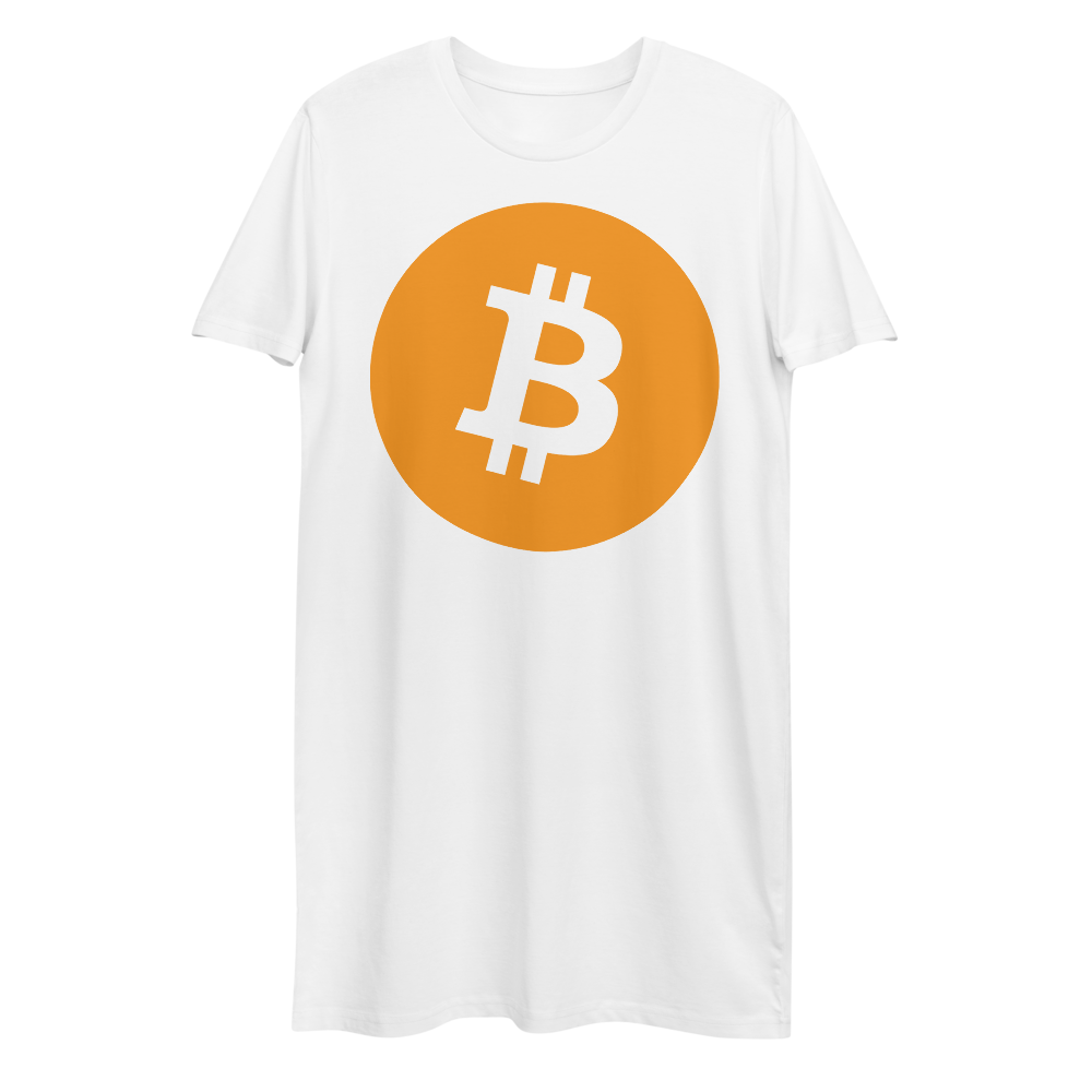 Bitcoin Core Premium T-Shirt Dress White XS - zeroconfs