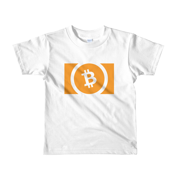 Bitcoin Cash Short Sleeve Kids T-Shirt White 2yrs - zeroconfs