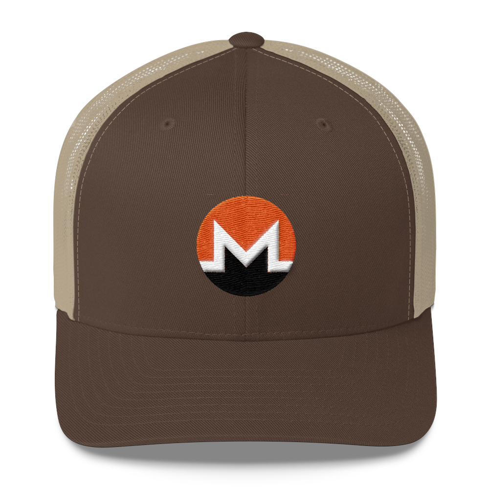 Monero Trucker Cap Brown/ Khaki  - zeroconfs