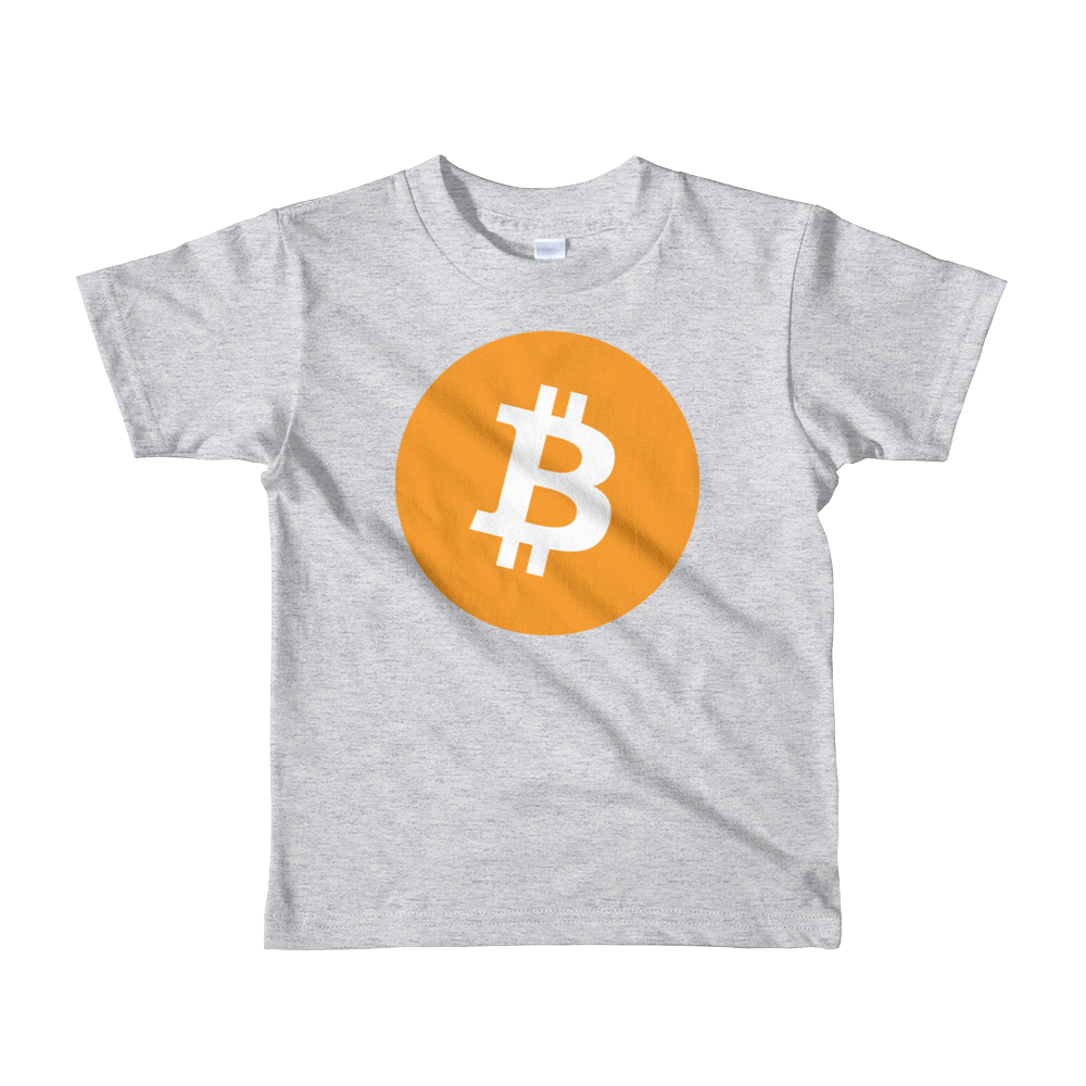 Bitcoin Core Short Sleeve Kids T-Shirt Heather Grey 2yrs - zeroconfs