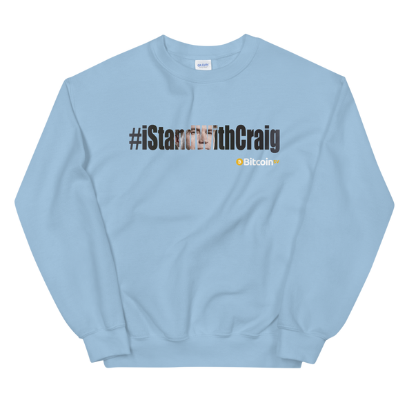 #IStandWithCraig Bitcoin SV Sweatshirt Light Blue S - zeroconfs