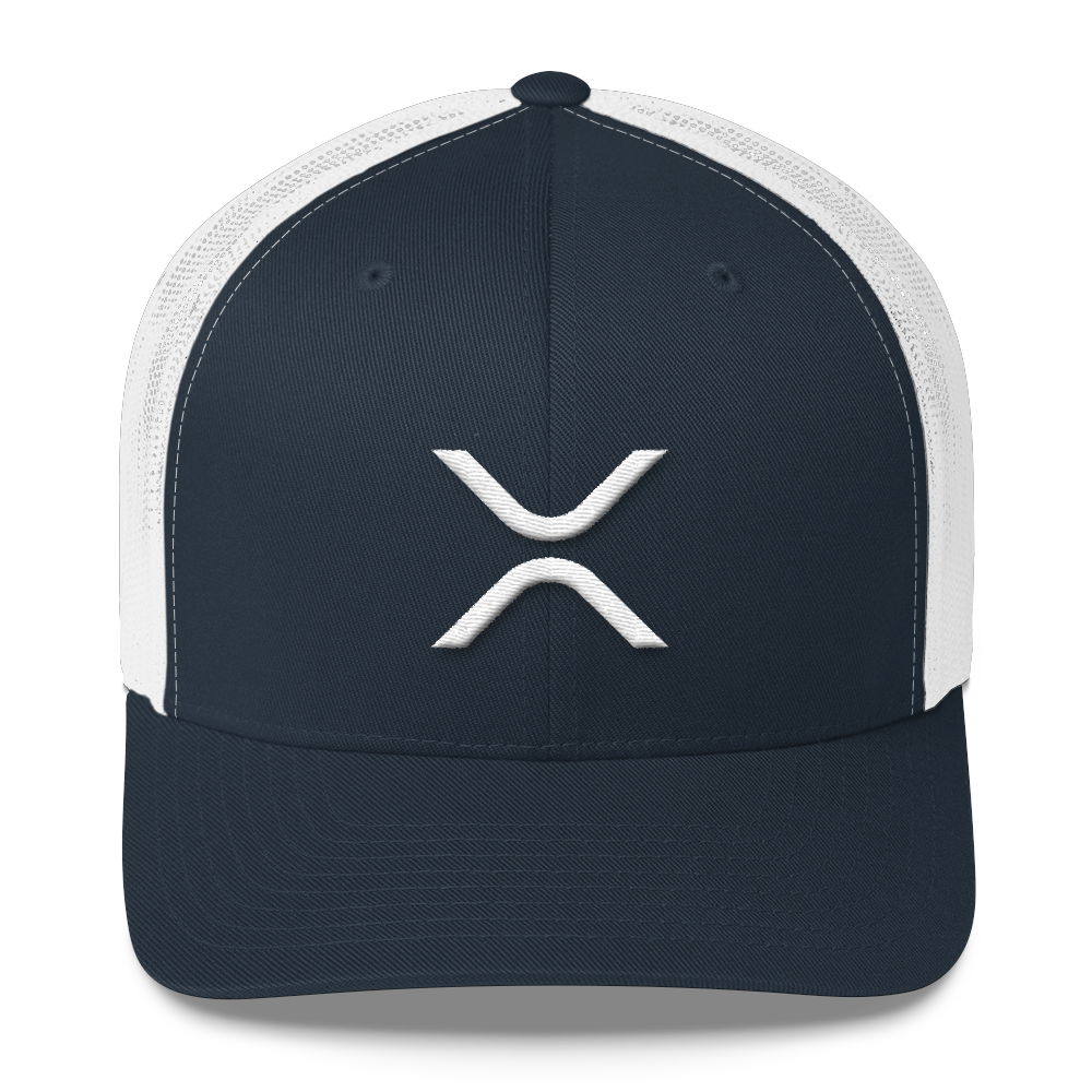 Ripple Trucker Cap Navy/ White  - zeroconfs