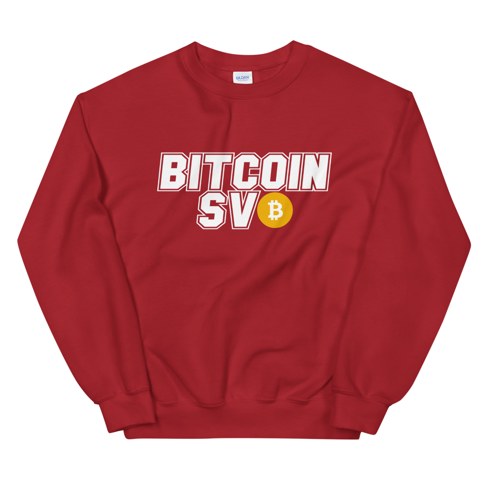 Bitcoin SV Sports Women's Sweatshirt Red S - zeroconfs