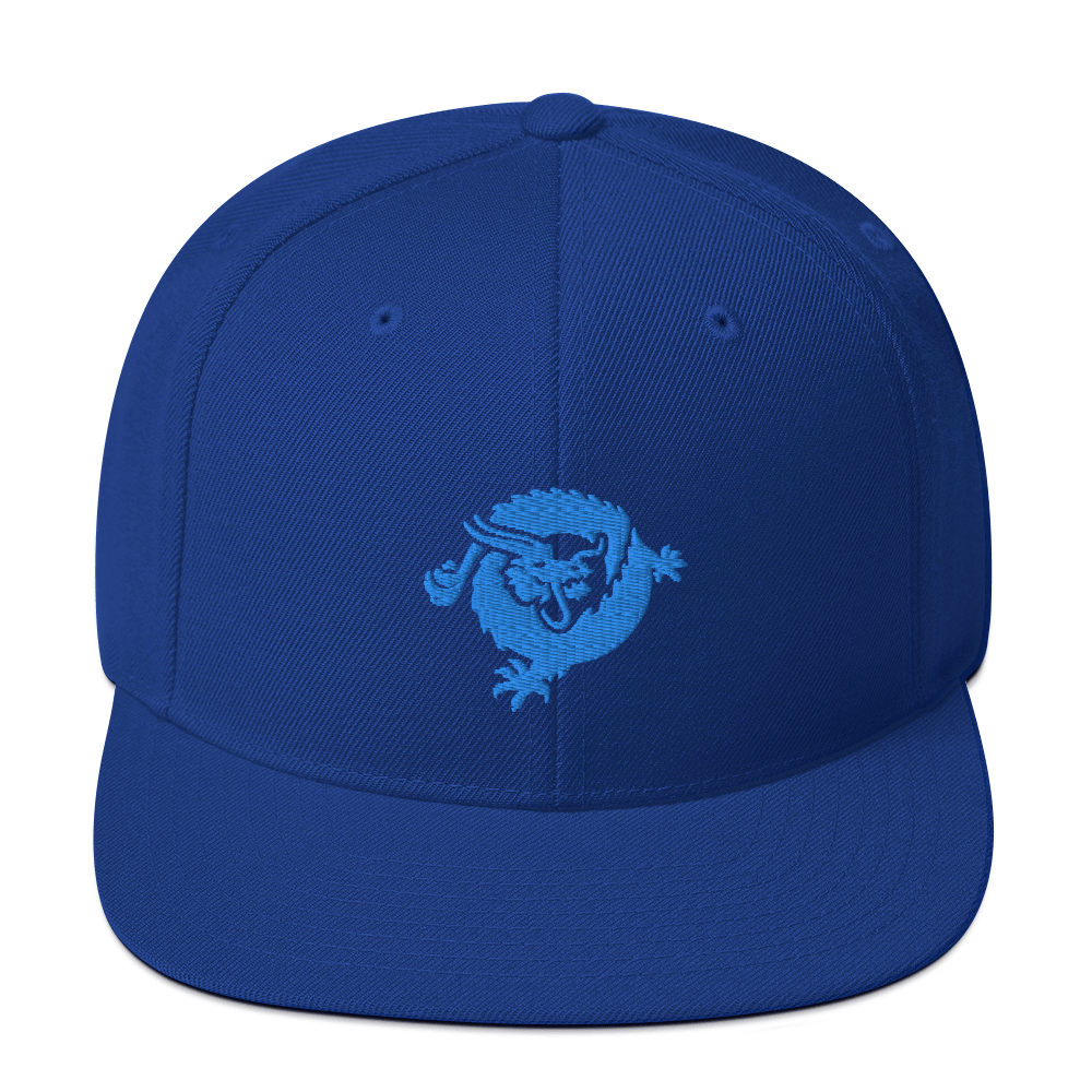 Bitcoin SV Dragon Snapback Hat Blue Royal Blue  - zeroconfs