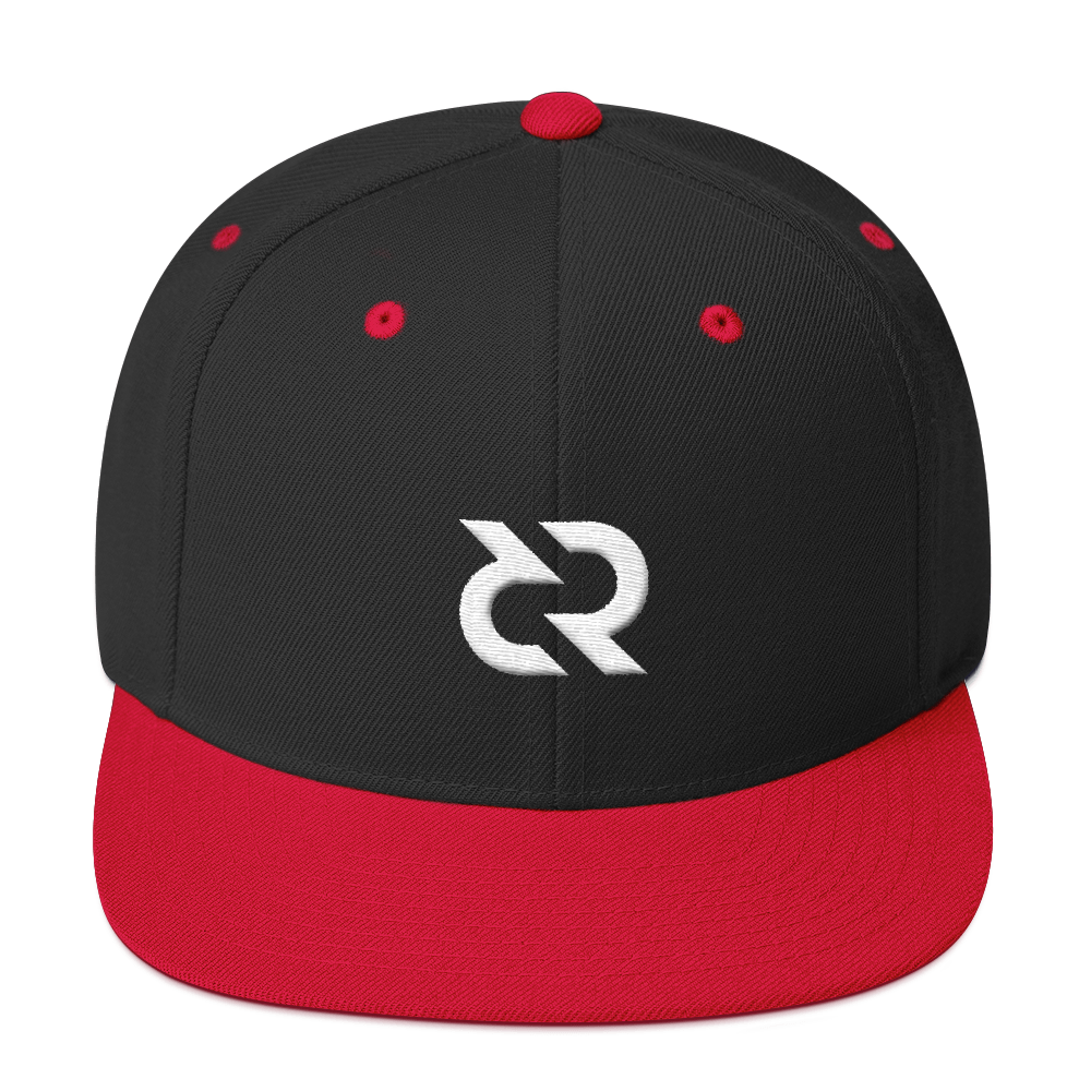 Decred Snapback Hat Black/ Red  - zeroconfs