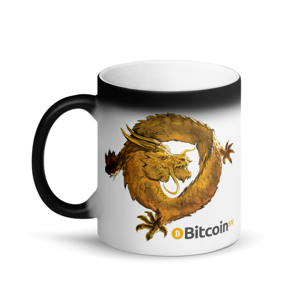 Bitcoin SV Woken Dragon Magic Mug   - zeroconfs