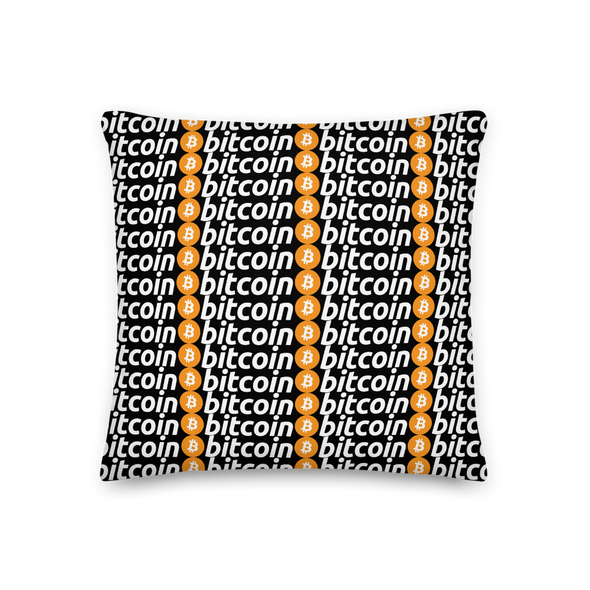 Bitcoins Premium Pillow 18×18  - zeroconfs