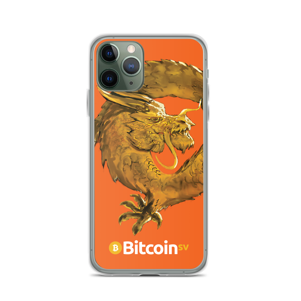Bitcoin SV Woken Dragon iPhone Case Orange iPhone 11 Pro  - zeroconfs