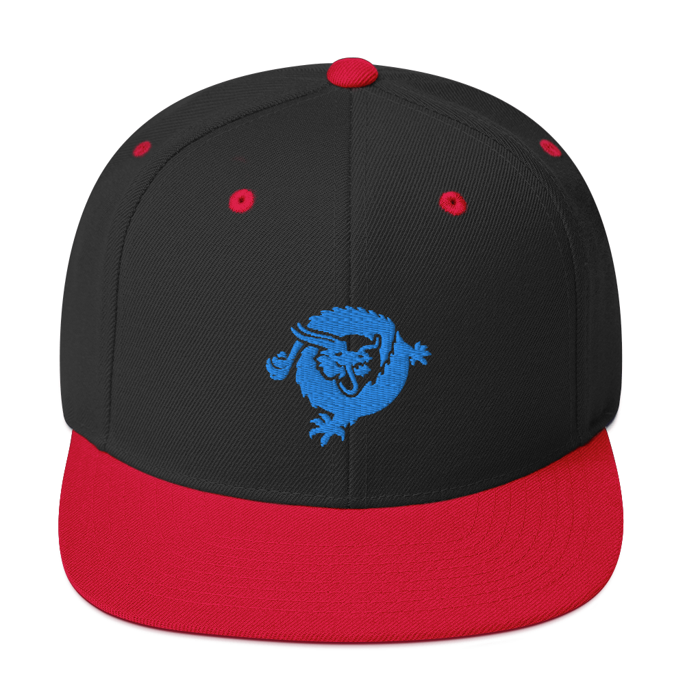 Bitcoin SV Dragon Snapback Hat Blue Black/ Red  - zeroconfs