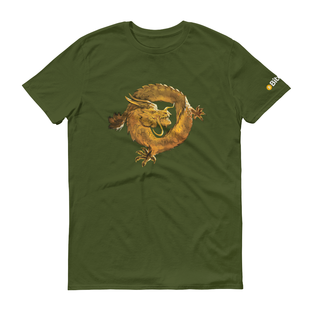 Bitcoin SV Woken Dragon Short-Sleeve T-Shirt City Green S - zeroconfs