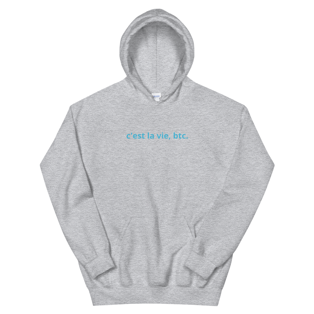 Such Is Life, Bitcoin Hooded Sweatshirt Sport Grey S - zeroconfs