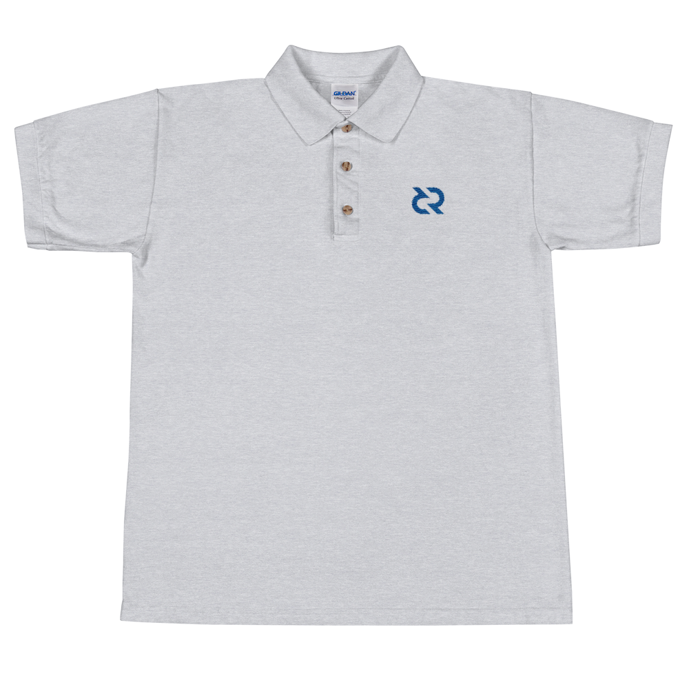 Decred Embroidered Polo Shirt Sport Grey S - zeroconfs