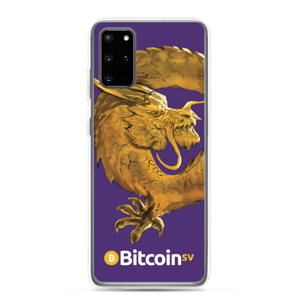 Bitcoin SV Woken Dragon Samsung Case Purple Samsung Galaxy S20 Plus  - zeroconfs