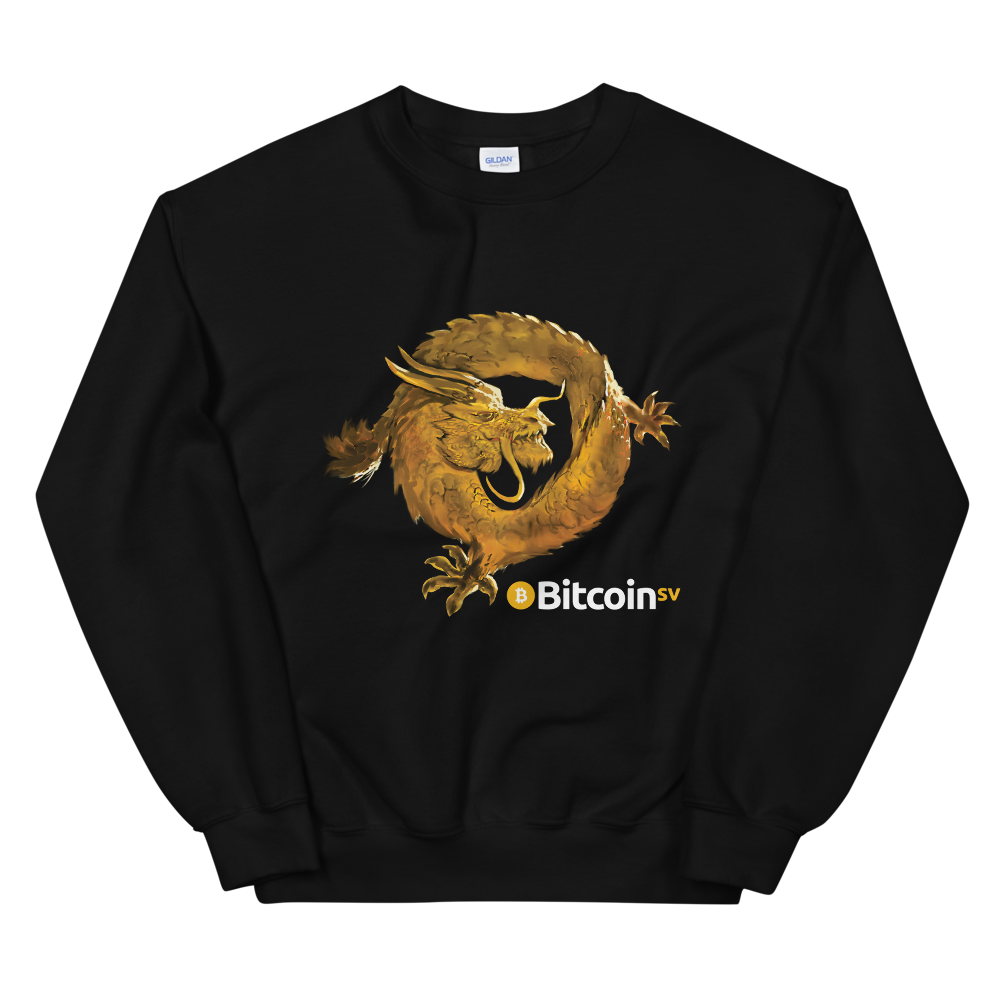 Bitcoin SV Woken Dragon Women's Sweatshirt Black S - zeroconfs