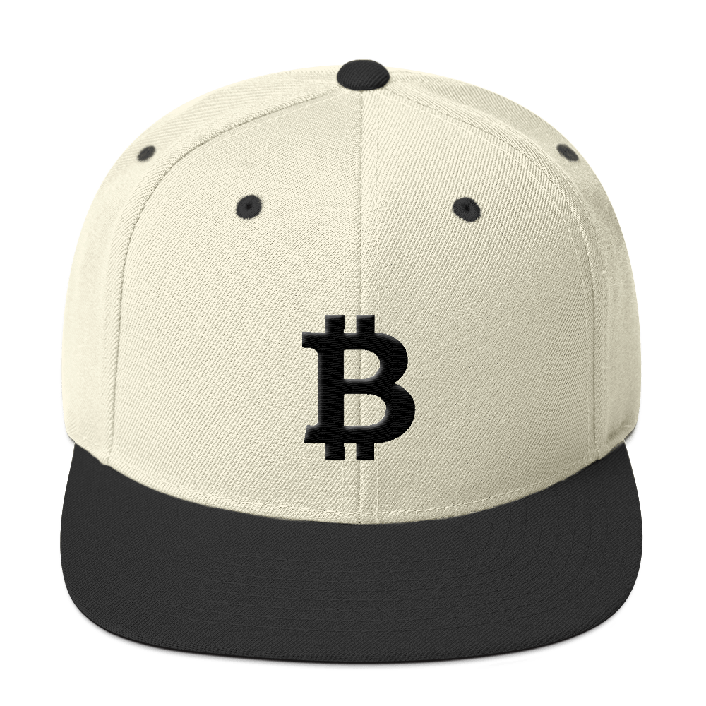 Bitcoin Blacknet SE Snapback Hat Natural/ Black  - zeroconfs