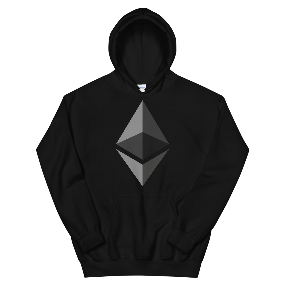 Ethereum Hooded Sweatshirt Black S - zeroconfs