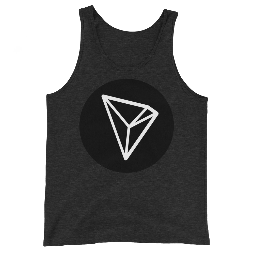 Tron Tank Top Charcoal-Black Triblend XS - zeroconfs